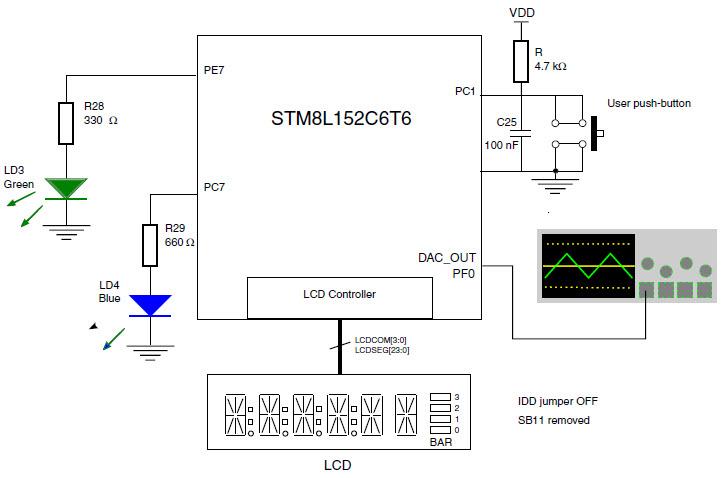 stm8l151r8最小电路