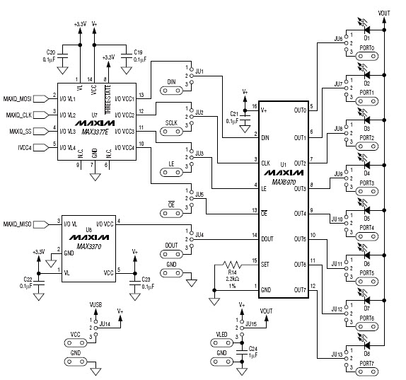 max8512exk details maxim integrated datasheets Fan Control IC visualization of reference design