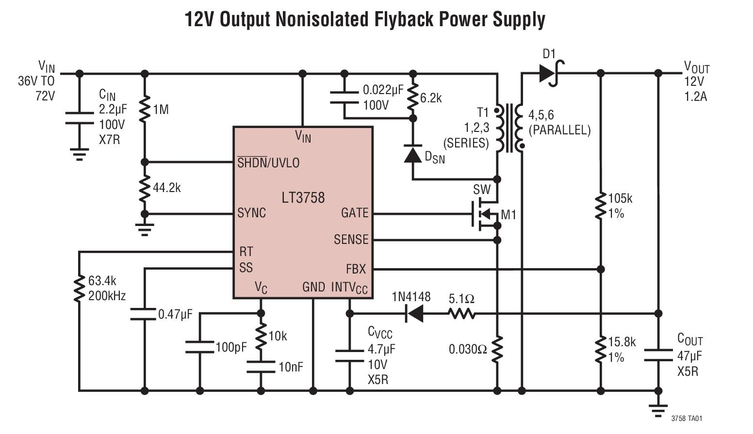 Lt3758emse Details Analog Devices Datasheets 0 12v Power Supply Circuit Diagram Reference Designs